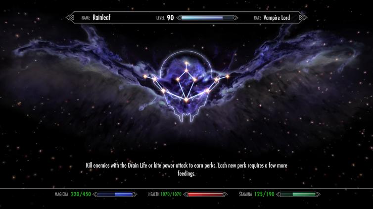 Vampire Mastered Achievement in The Elder Scrolls V: Skyrim