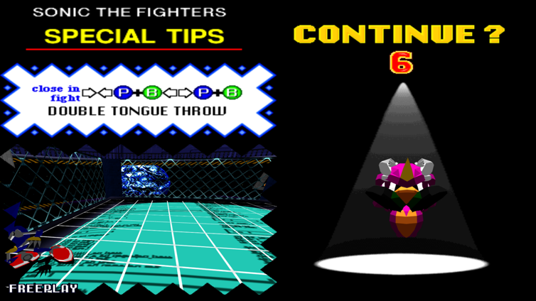 Sonic the Fighters Screenshot 1