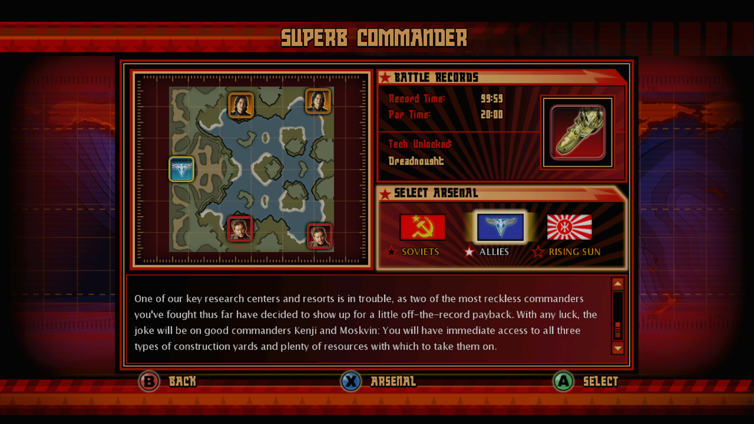 Red Alert 3: Commander's Challenge Screenshot 1